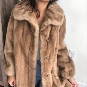 Vintage Sears Fashion union made faux fur coat